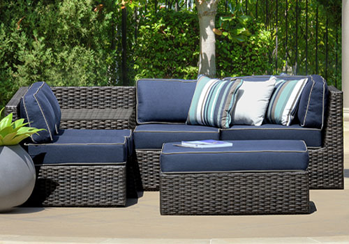 outdoor furniture blue grey