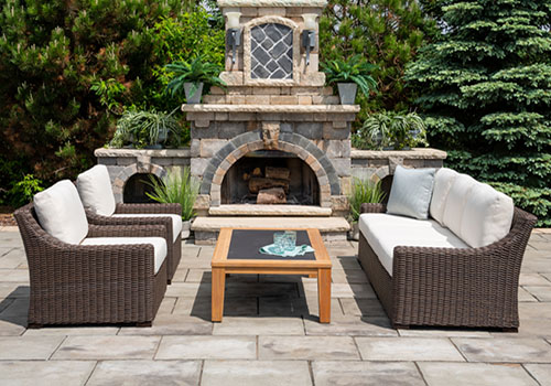 brown rattan outdoor furniture