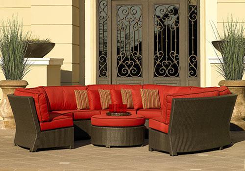 orange outdoor lounge furniture