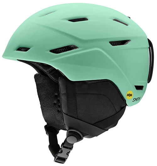Green Smith MIPS helmet