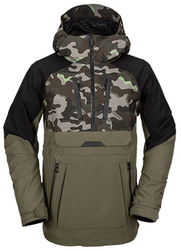 camouflage snowboard pullover
